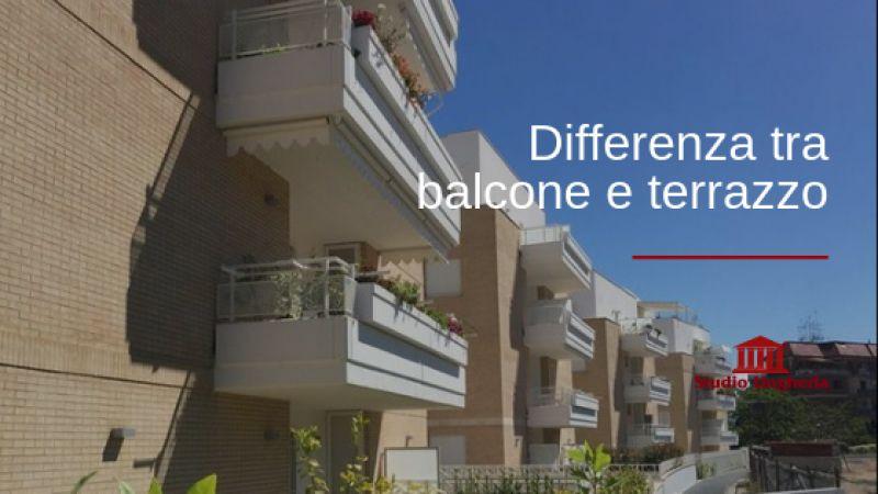 Che differenza c'è tra il terrazzo e il balcone?